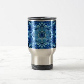 Blue enamel fibula mugs