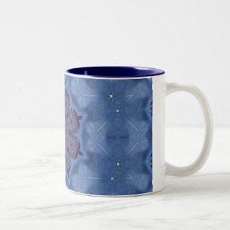 Blue Encaustic Mandala Mugs