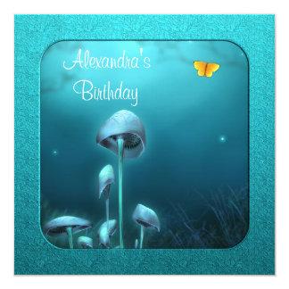 Blue Enchanted Fantasy Garden & Frame Event Card