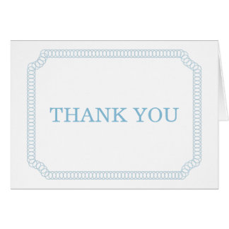 Blue Encircled Ticket Thank You Card