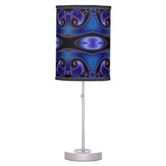 Blue Energy Fractal Table Lamp