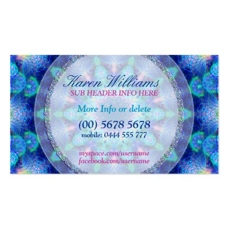 New Age Blue Energy Healing Center Holistic Business Cards