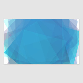 Blue Energy Rectangular Sticker