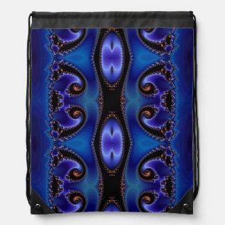Blue Energy Tapestry Drawstring Bag