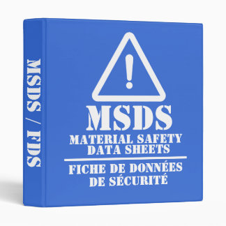 Blue English and French MSDS / FDS Binder