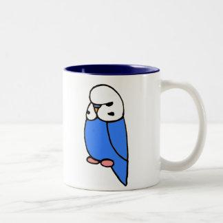 Blue English Budgie Two-Tone Coffee Mug