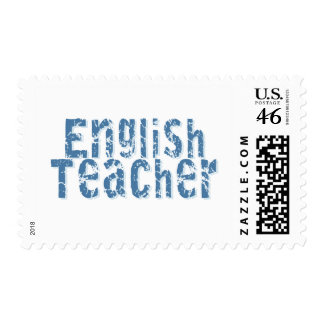 Blue English Teacher Tshirts and Gifts Stamps