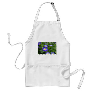 Blue Ensign Morning Glory Flower Adult Apron