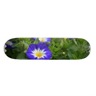 Blue Ensign Morning Glory Flowers Skate Board Deck
