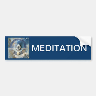 Blue Enso Meditation - collage Bumper Stickers