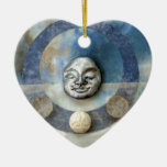 Blue Enso Meditation - collage Christmas Ornaments