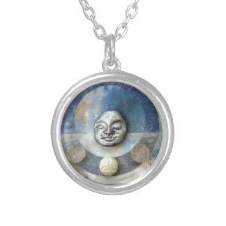 Blue Enso Meditation - collage Pendants