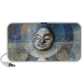 Blue Enso Meditation - collage iPod Speaker