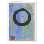 Blue Enso (Zen Circle) of Tranquility Blank Card