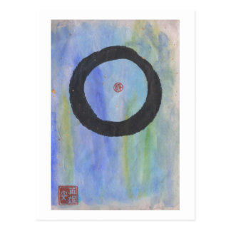 Blue Enso (Zen Circle) of Tranquility Postcard