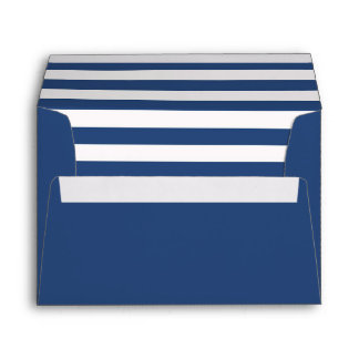 Blue Envelope with a Blue and White Striped Liner