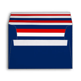 Blue Envelope With a Red White Blue Striped Liner