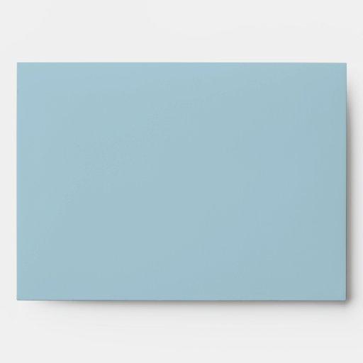 Blue Envelope with Return Address