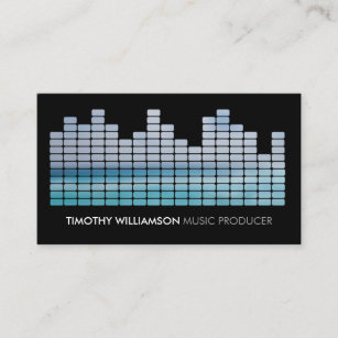 Band business cards templates zazzle blue equalizer musician dj band business card colourmoves