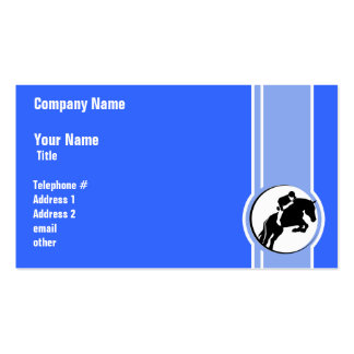 Blue Equestrian Double-Sided Standard Business Cards (Pack Of 100)