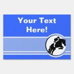 Blue Equestrian Lawn Signs