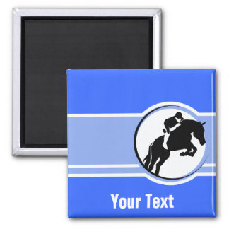 Blue Equestrian Fridge Magnets