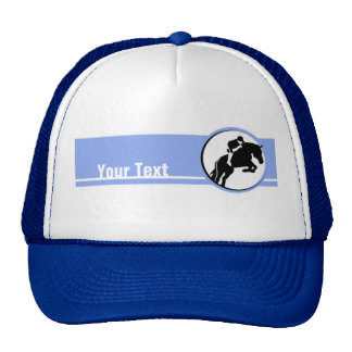 Blue Equestrian Trucker Hat