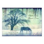 Blue Equestrian Wedding Invitation