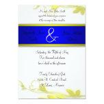 Blue Escape Two Wedding Invitation
