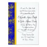 Blue Escape Wedding Invitation