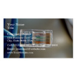 Blue Ethernet CAT5 Cable Double-Sided Standard Business Cards (Pack Of 100)
