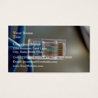 Blue Ethernet CAT5 Cable Business Card