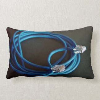 Blue Ethernet CAT5 Cable Pillow