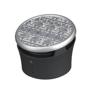 Blue Ethnic Elephant Pattern Bluetooth Speaker