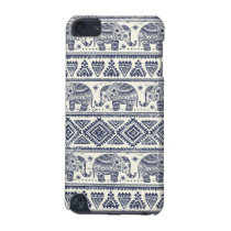 Blue Ethnic Elephant Pattern iPod Touch (5th Generation) Case