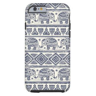 Blue Ethnic Elephant Pattern Tough iPhone 6 Case