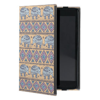Blue Ethnic Elephant Tribal Pattern iPad Mini Case