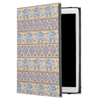 """Blue Ethnic Elephant Tribal Pattern iPad Pro 12.9"""" Case"""