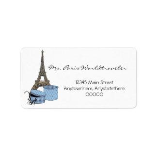 Blue Evening in Paris Eiffel Tower Address Labels