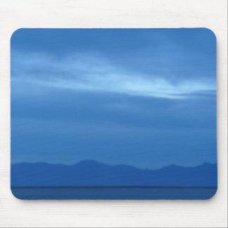 blue evening mouse pad