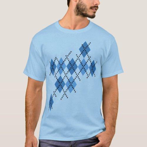 Blue Evil Argyle T_Shirt