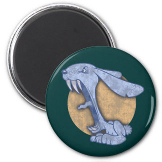 Blue Evil Bunny 2 Inch Round Magnet