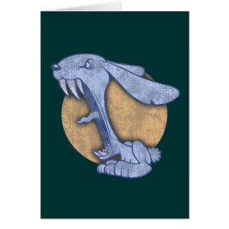Blue Evil Bunny Card