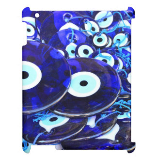Blue Evil Eye amulets Case For The iPad