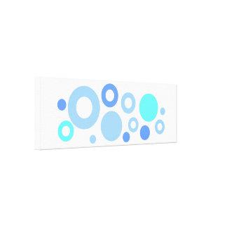 Blue examined canvas print
