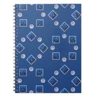 Blue examined notebooks