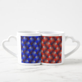 Blue examined - red examined couples' coffee mug set