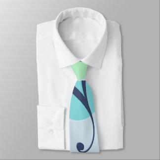 Blue examined tie