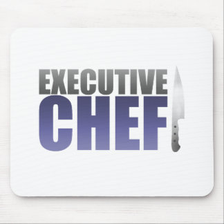 Blue Executive Chef Mouse Pad