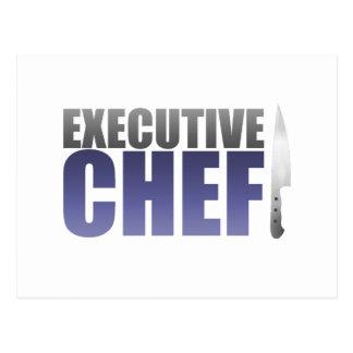 Blue Executive Chef Postcard